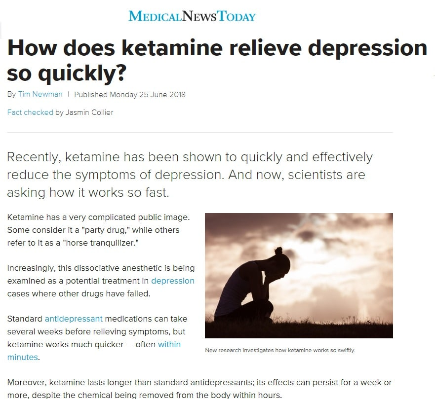 How Ketamine Helps Relieve Depression Symptoms Quickly